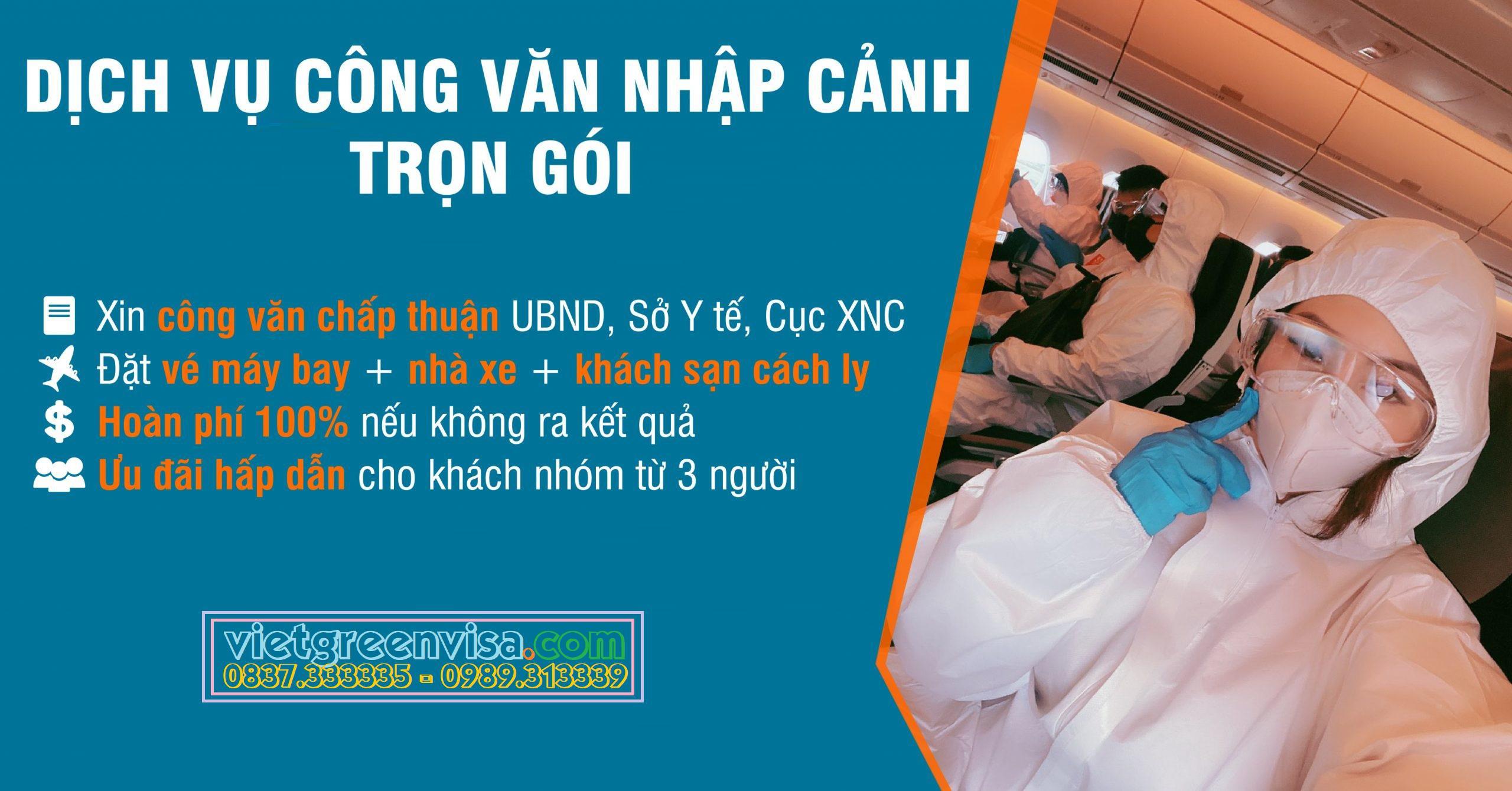 Công văn nhập cảnh, Visa Việt Nam, Phương án y tế, Khách sạn cách ly cho chuyên gia nước ngoài trọn gói