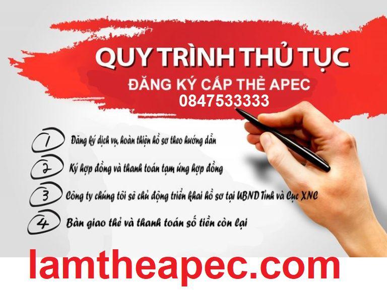 Quy trình làm dịch vụ thẻ APEC như thế nào?