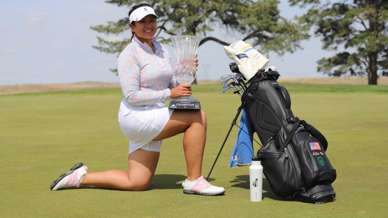 Nữ golfer gốc Việt Lilia Vũ - golfer chuyên nghiệp đầu tiên