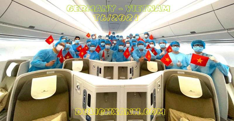 (Mới)Thông tin lịch bay từ Đức về Việt Nam tháng 6/2021