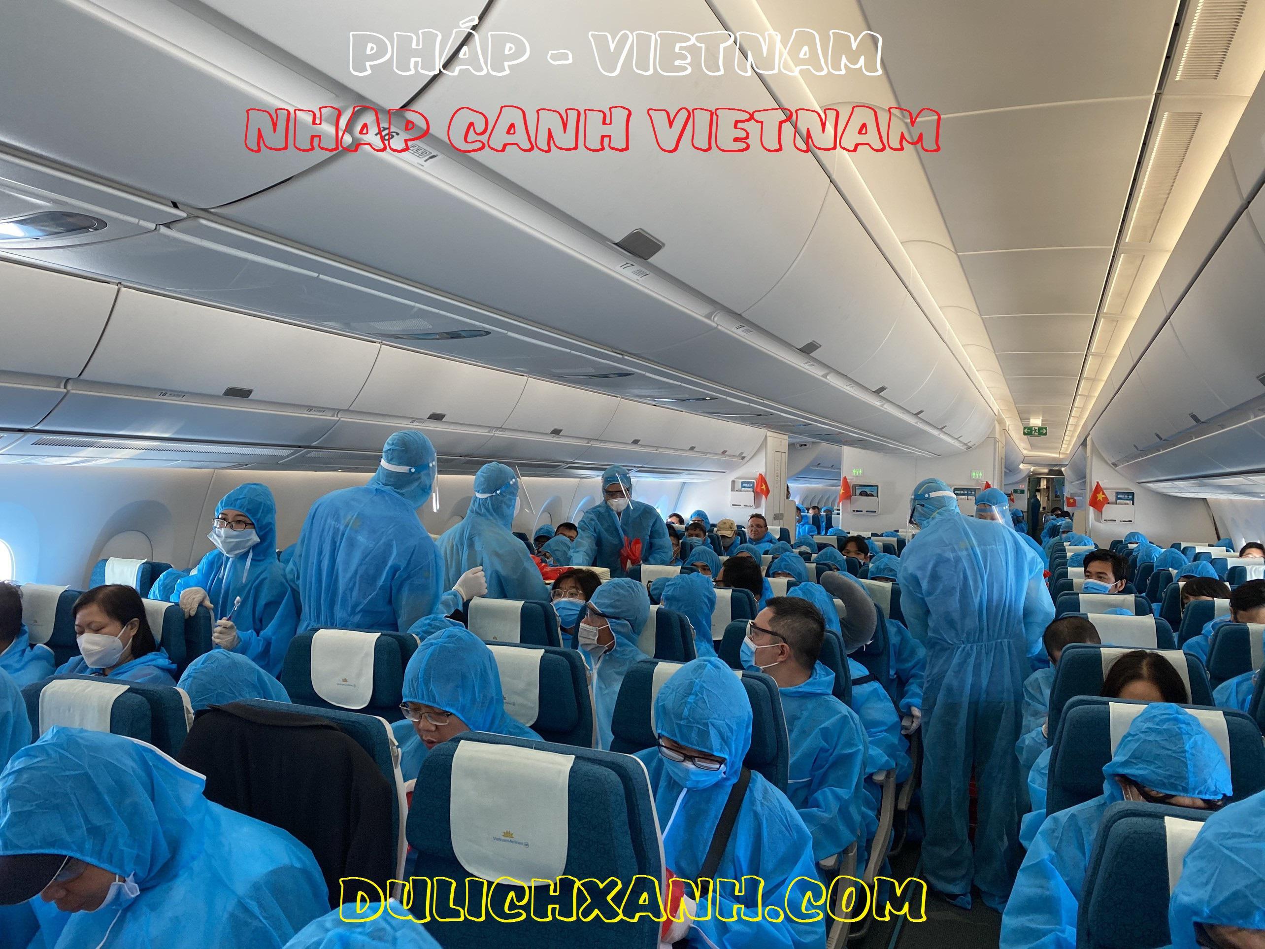 (Mới) Lịch bay hồi hương & chuyên gia từ Pháp về Việt Nam T6/2021