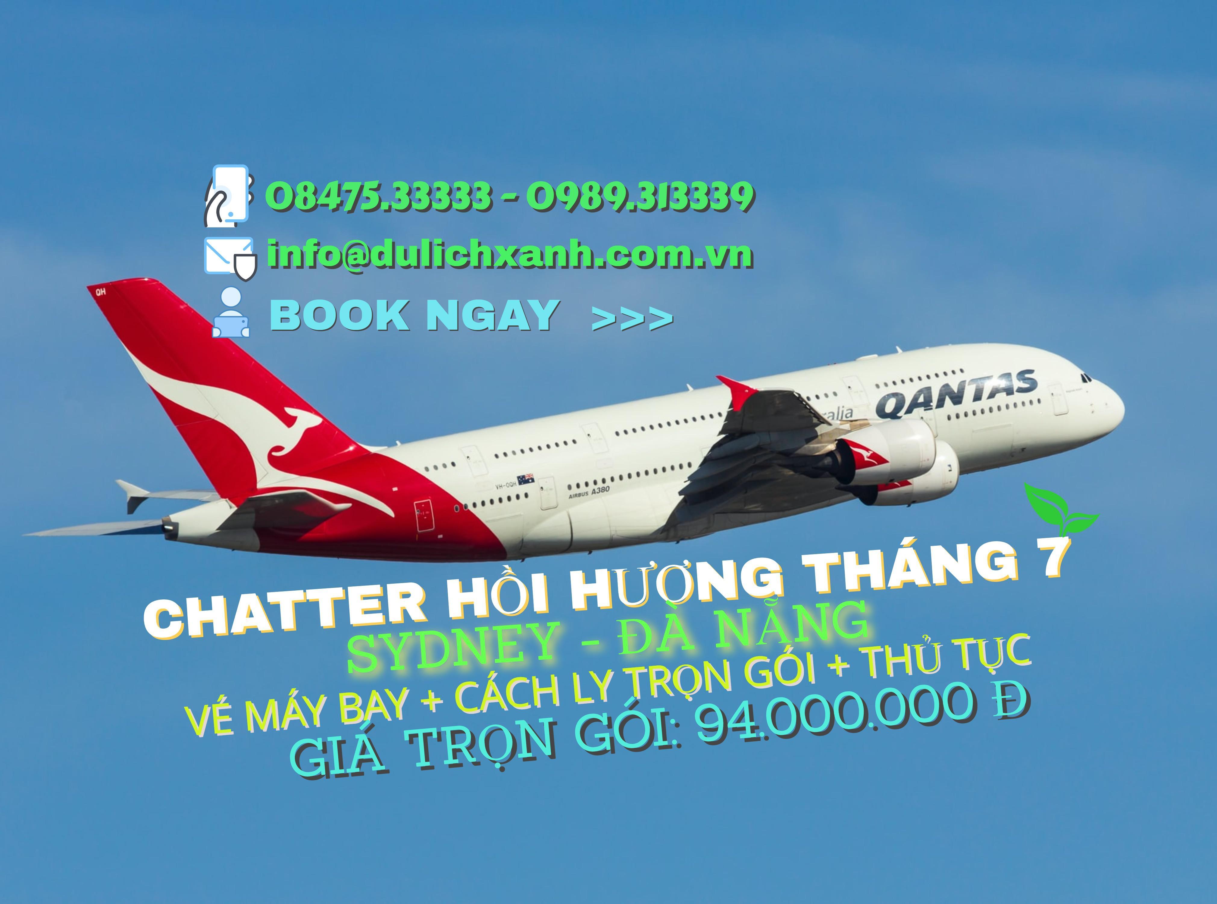 Chuyến bay chatter hồi hương từ Sydney, Úc về Việt Nam tháng 7