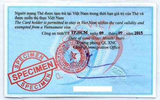 Thủ tục làm thẻ tạm trú cho người nước ngoài bị mất