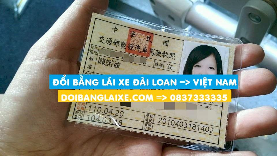 Đổi bằng lái xe Đài Loan sang Việt Nam uy tín tại Hồ Chí Minh