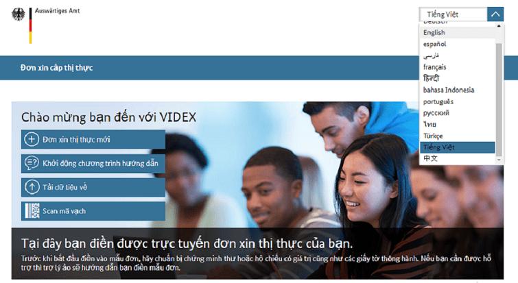 Hướng dẫn điền đơn xin visa Đức online