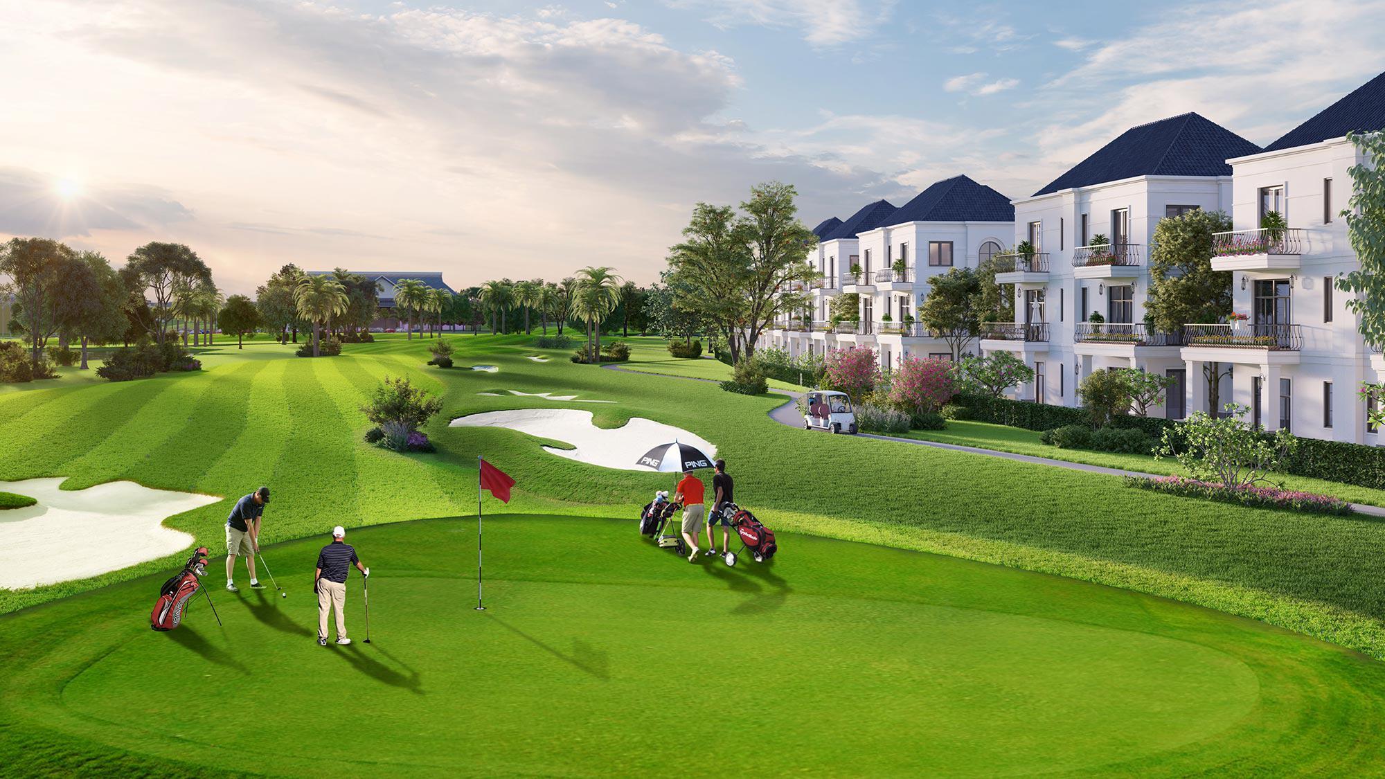 Sân Golf West Lakes Golf and Villa Long An 27 hố ngày thường