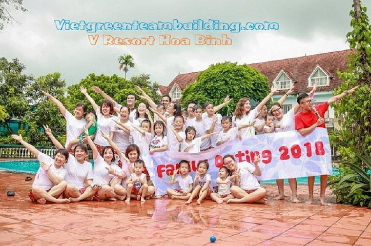 Tour du lịch Team building nghỉ dưỡng tại V Resort Hòa Bình 2 ngày 1 đêm