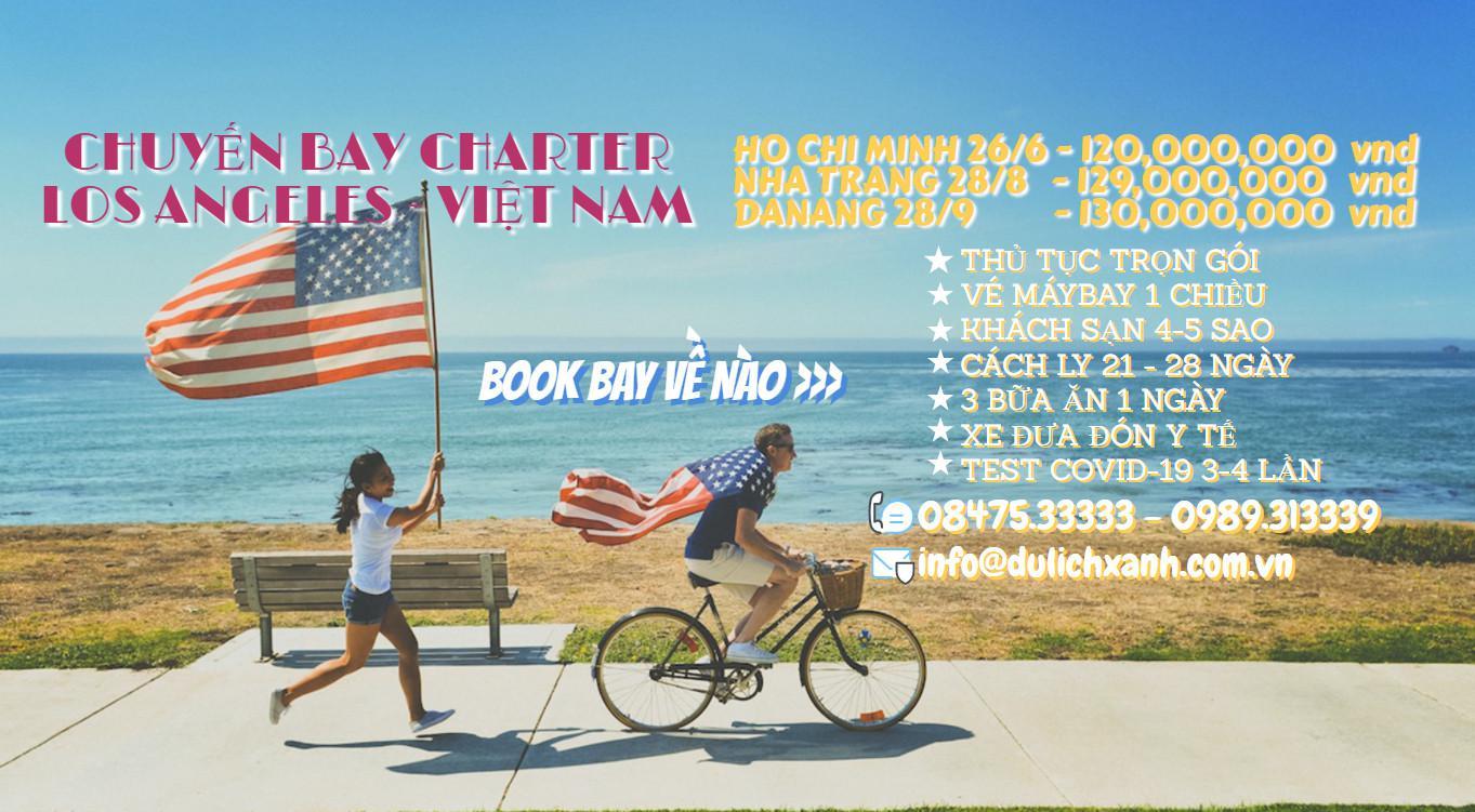 Cập nhật lịch bay mới nhất charter từ Mỹ về Tp. Hồ Chí Minh 28/6