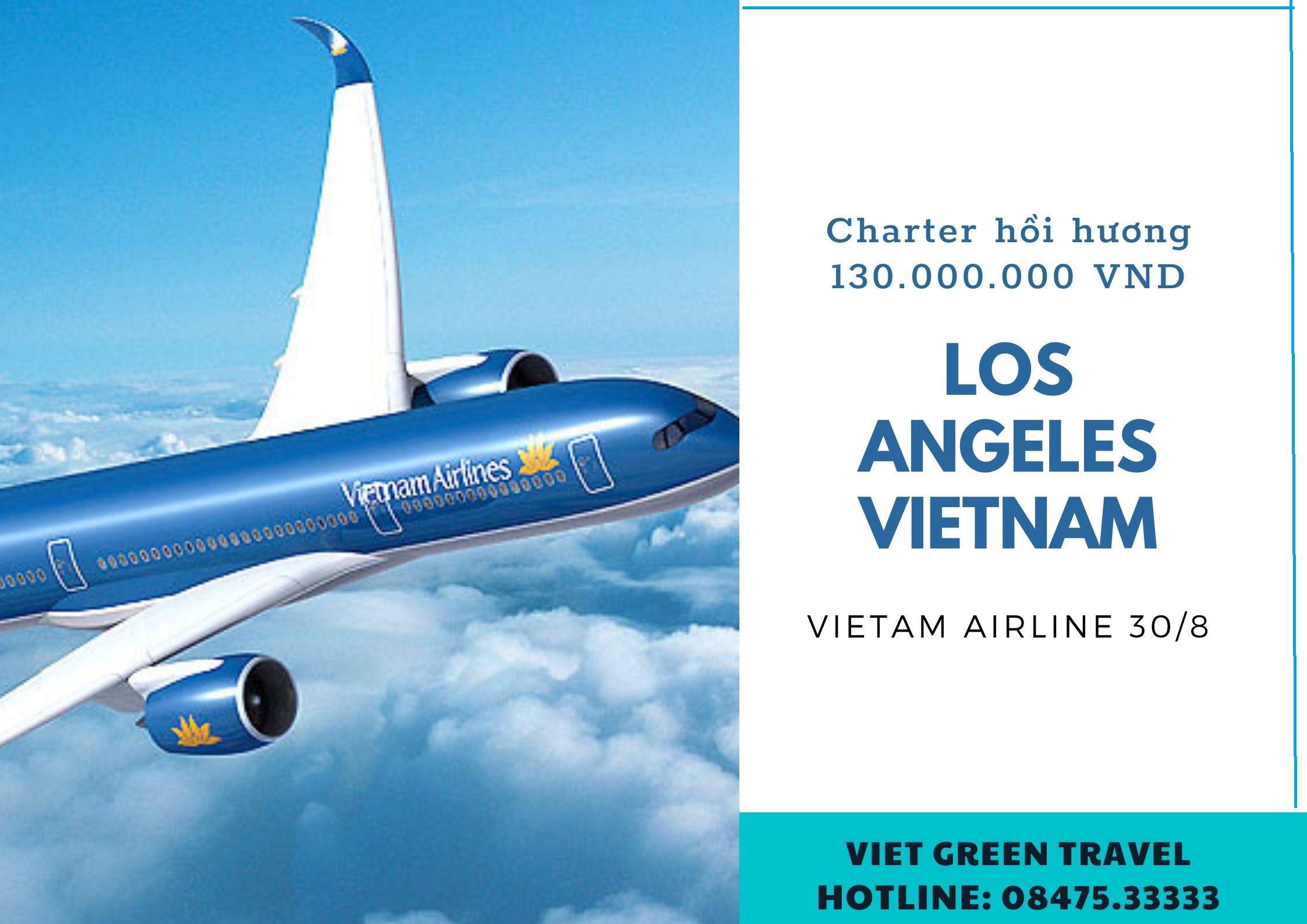 Lịch bay cập nhật từ Los Angeles về Việt Nam 30/8