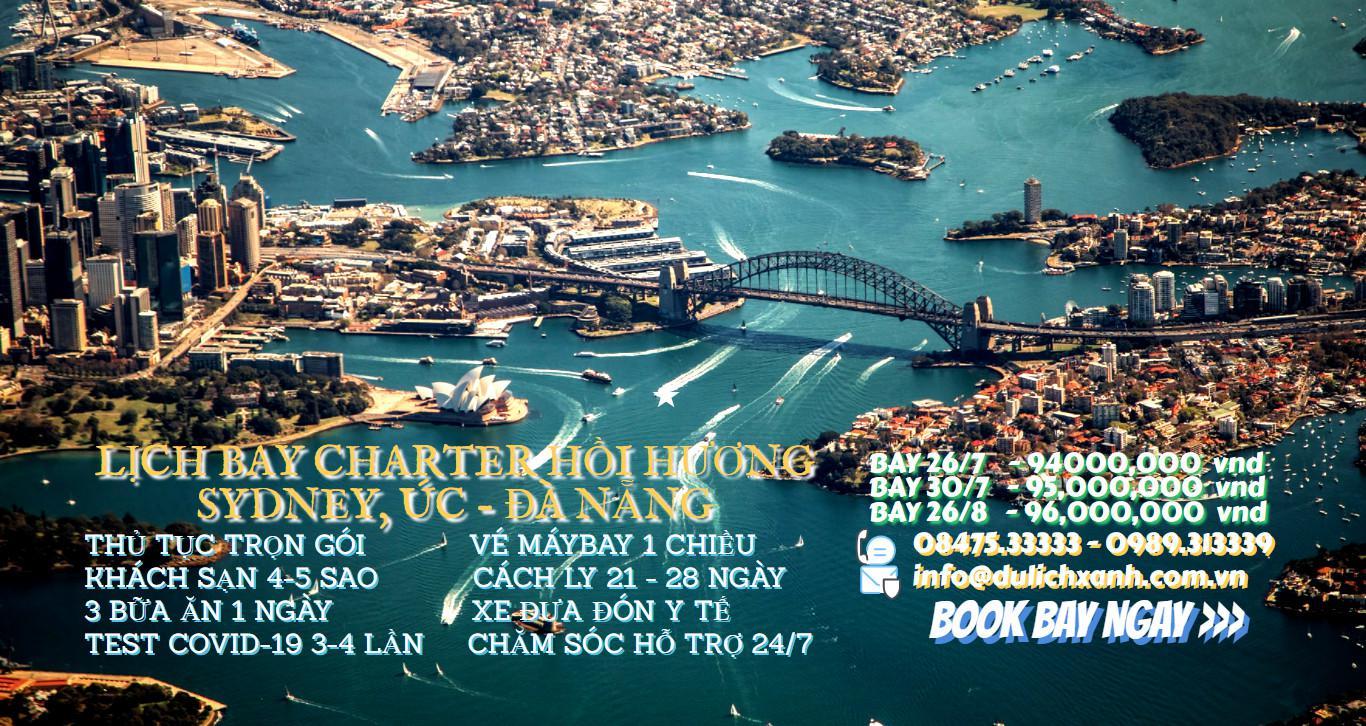 Chuyến bay từ Sydney đến Đà Nẵng mới nhất ngày 30/7
