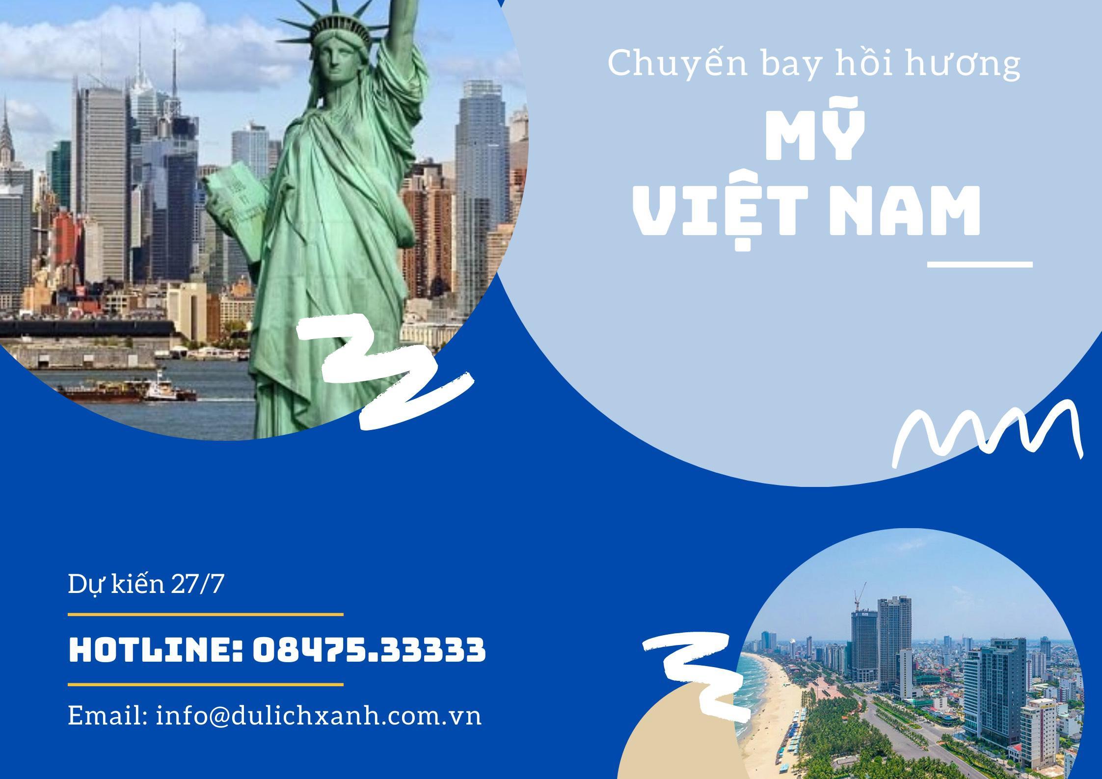 Chuyến bay thương mại từ Mỹ về Việt Nam tháng 7/2021