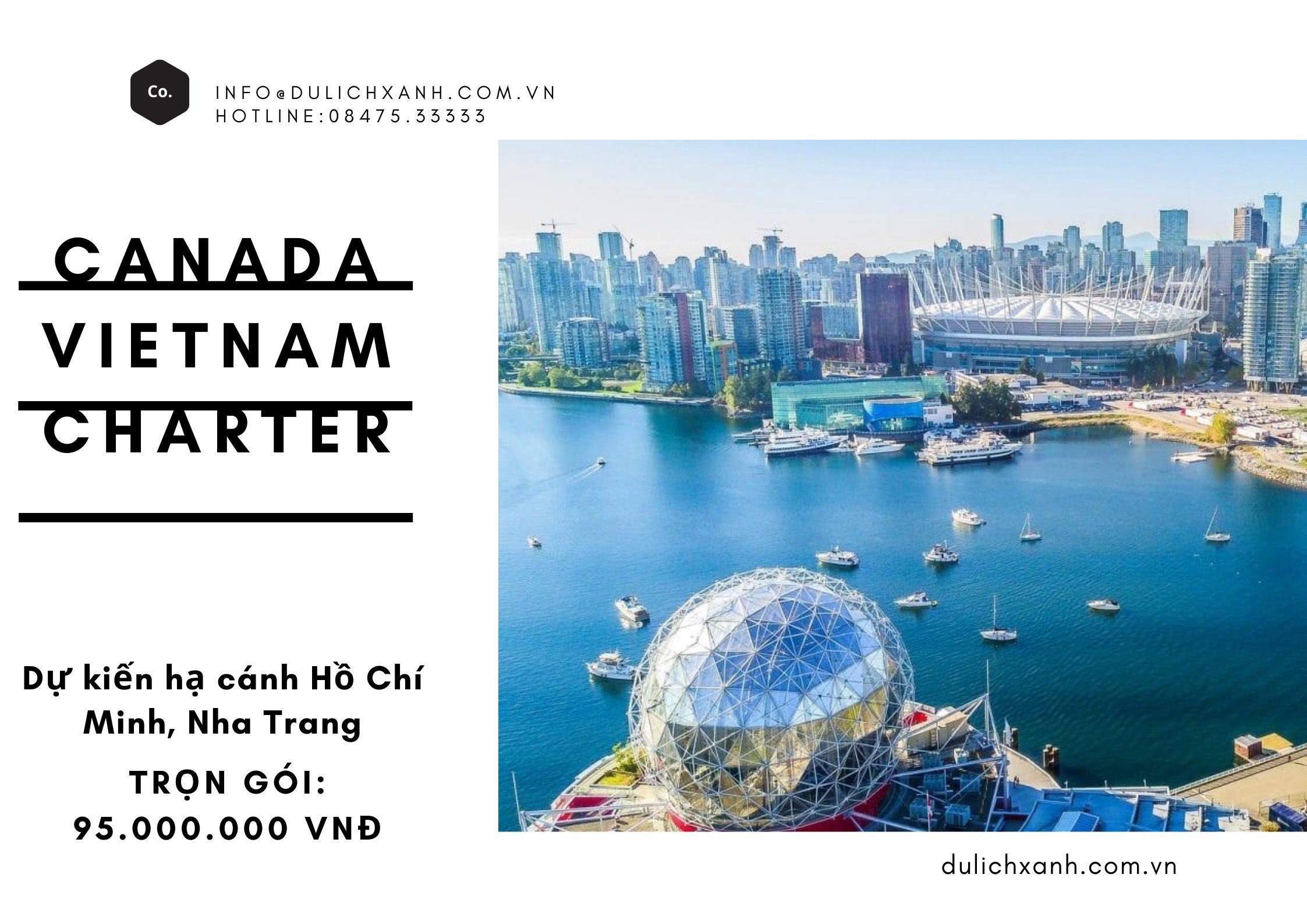 Chuyến bay charter từ Canada về Việt Nam tháng 6