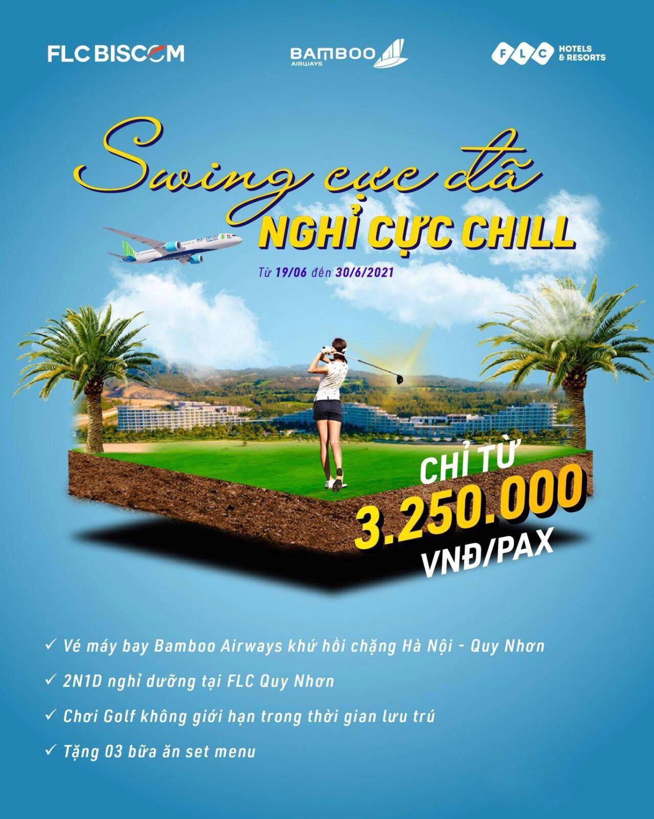 Combo golf tiết kiệm tại FlC Quy Nhơn chỉ từ 3.250.000VNĐ/pax