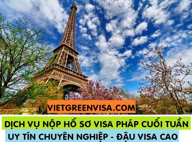 Dịch vụ nộp hồ sơ  xin visa Pháp Thứ 7 cuối tuần