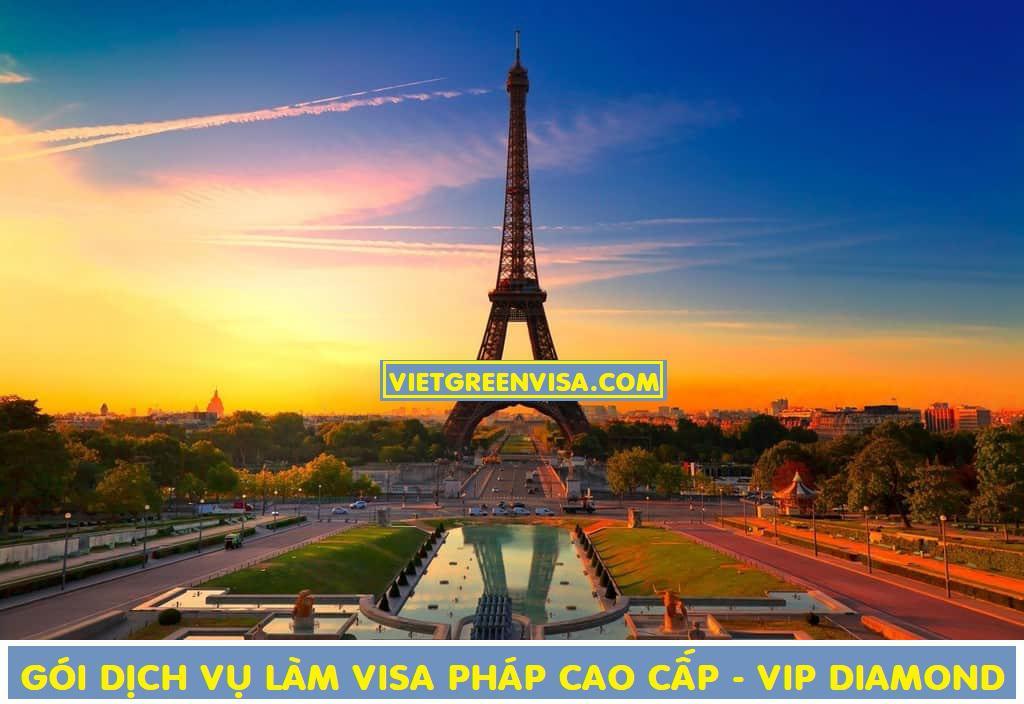 Dịch vụ làm visa Pháp cao cấp - Gói visa Pháp VIP DIAMOND