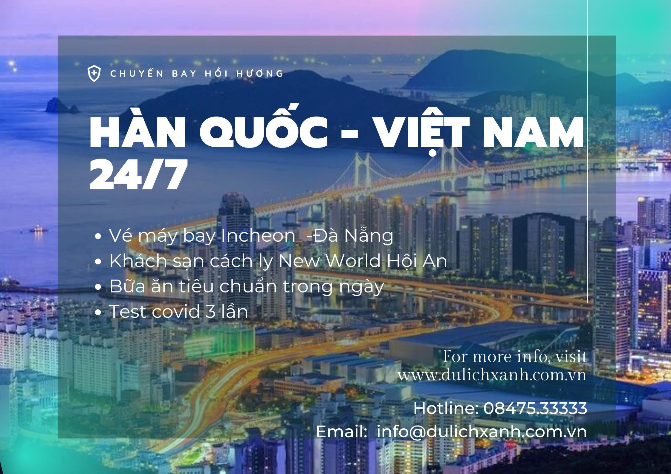 Lịch bay hồi hương cho người Việt tại Hàn Quốc 24/07