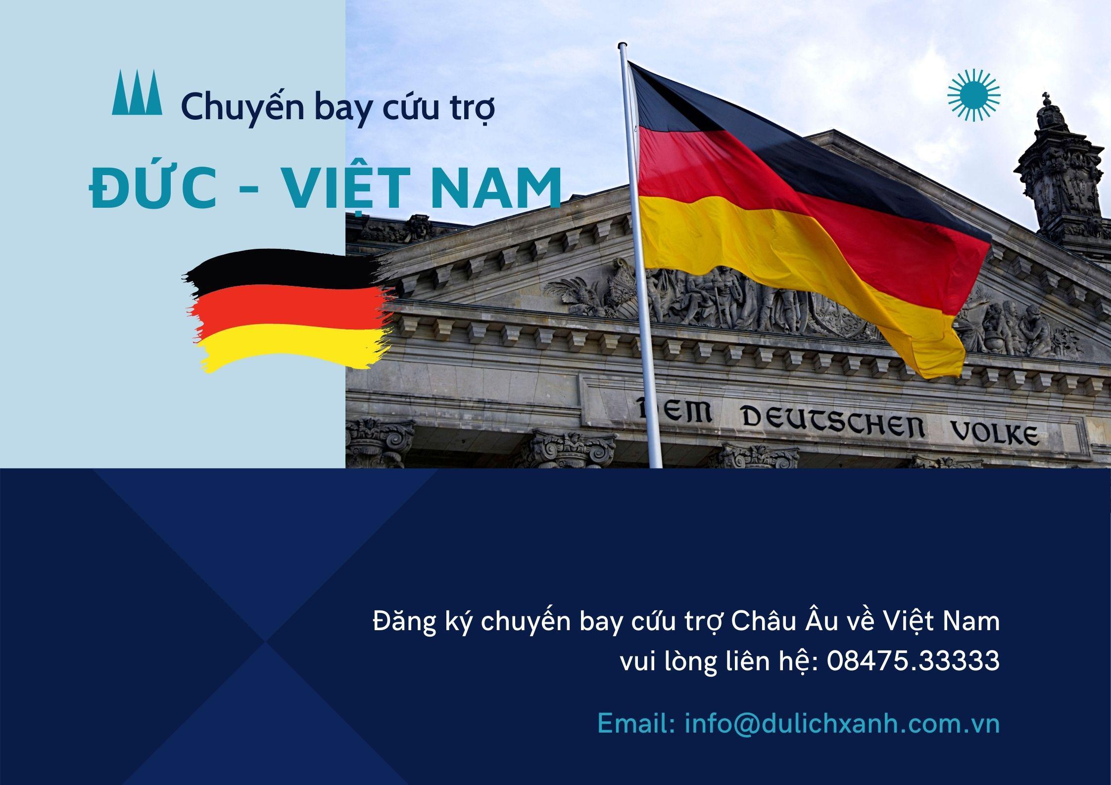 Chuyến bay cứu trợ từ Đức về Việt Nam 21/08