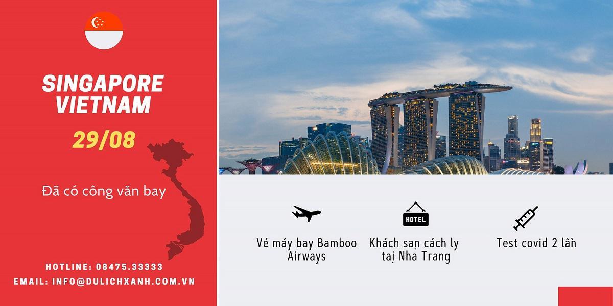 Chuyến bay từ Singapore về Việt Nam đã có công văn 29/08