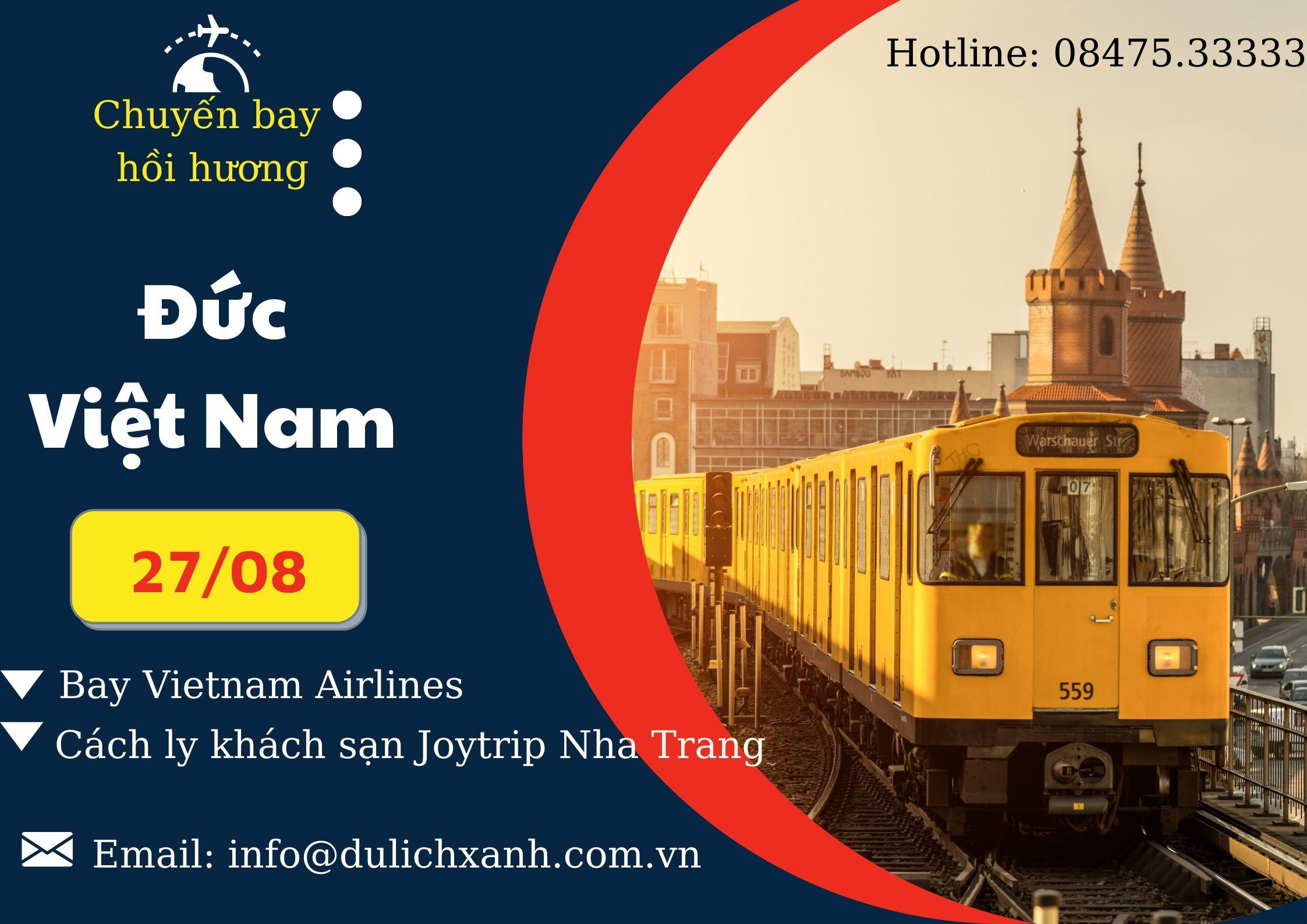 Chuyến bay hồi hương từ Đức về Việt Nam 27/8 (đã cấp phép)