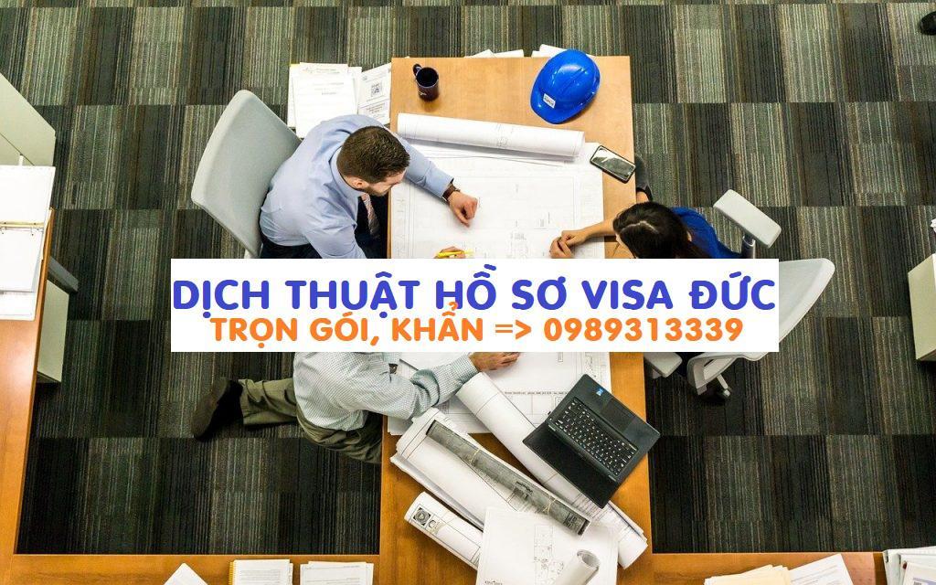 Dịch thuật hồ sơ xin visa Đức tại Hà Nội, Hồ Chí Minh