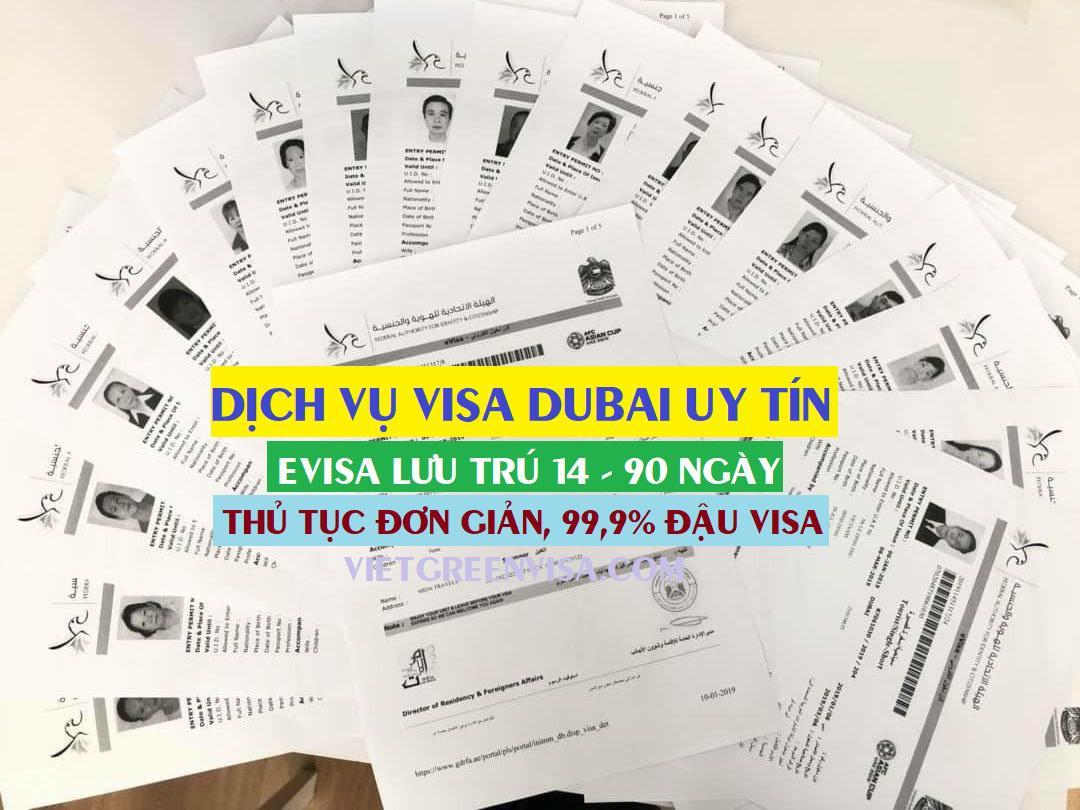 Dịch vụ làm visa Dubai du lịch lưu trú 90 ngày giá rẻ