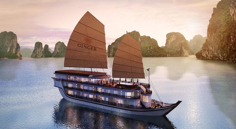 Tour Du Thuyền 5 Sao Hạ Long Ginger 2 Ngày 1 Đêm